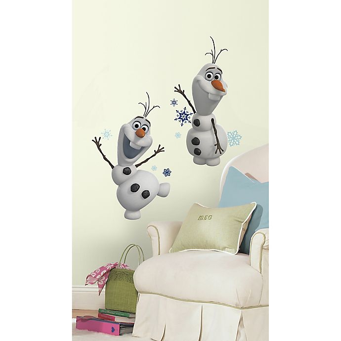 Alternate image 1 for Disney® RoomMates Frozen Peel & Stick Giant Wall Decals in Olaf