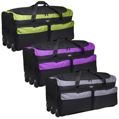 f41067415101 Travelers Club® 36-Inch Tri-Fold Collapsible Rolling Duffel Bag ...