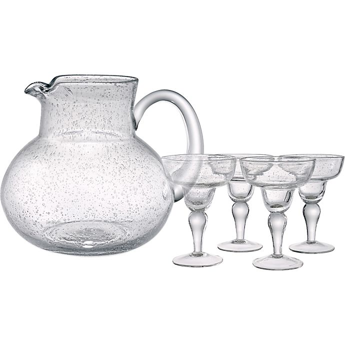 Alternate image 1 for Artland® Iris 5-Piece Margarita Glass and Pitcher Set in Clear
