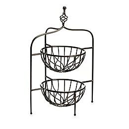 Mesa Open Spiral 2-Tier Corner Basket
