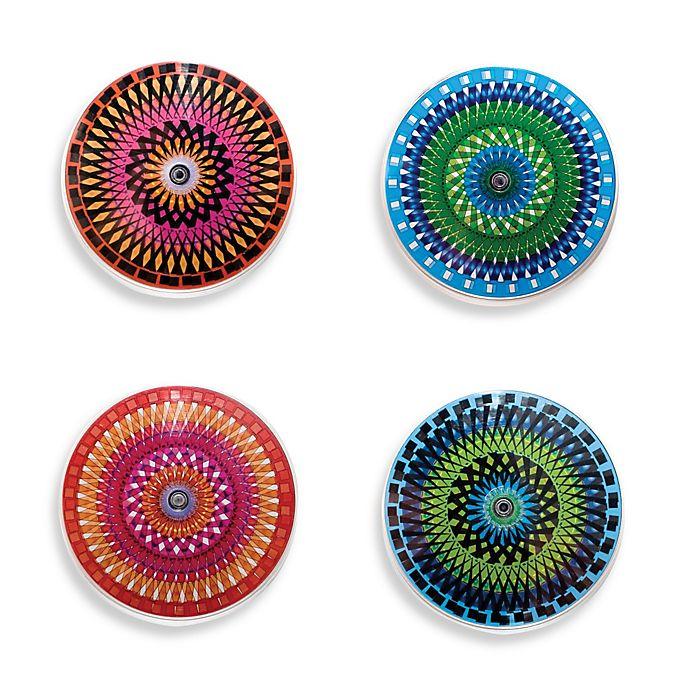 Alternate image 1 for Kikkerland® Design Color Moire Coasters (Set of 4)
