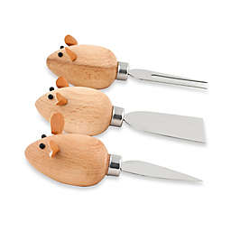 Kikkerland® Design Mouse Cheese Knives (Set of 3)