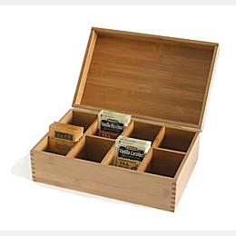 Lipper International 8-Compartment Bamboo Tea Box