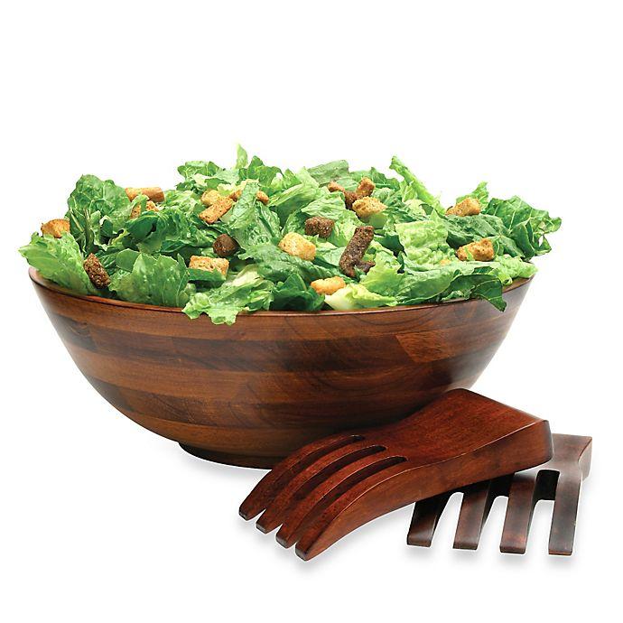 Alternate image 1 for Lipper Cherry Wood 3-Piece Salad Serving Set