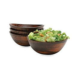 Lipper Cherry Wood All Purpose Bowls (Set of 4)