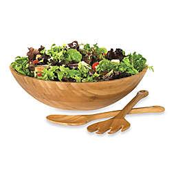 Lipper International Bamboo Salad Bowl with Servers
