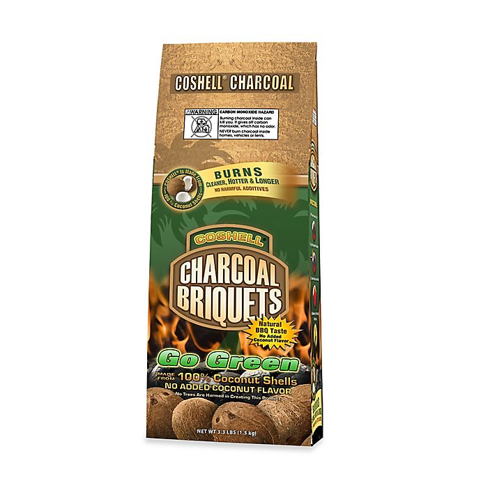 Alternate image 1 for Coshell Charcoal Coconut Charcoal Briquettes