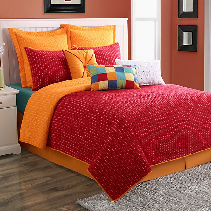 Alternate image 1 for Fiesta® Dash Pic Stich Reversible Quilt Set