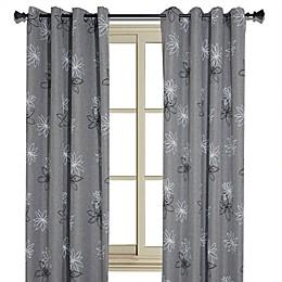 Crawford Floral Print Room-Darkening Window Curtain Panel