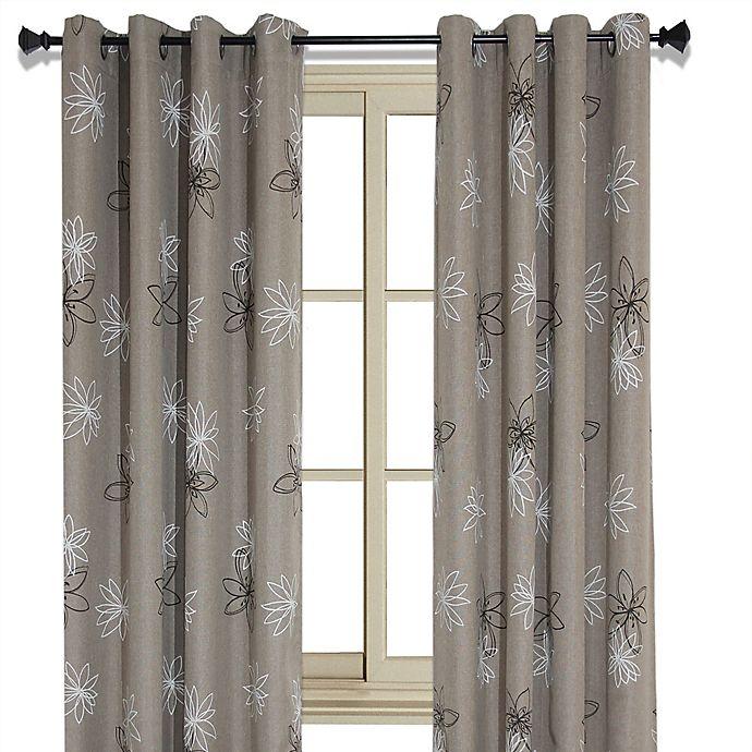 Alternate image 1 for Crawford Floral Print Room-Darkening Window Curtain Panel