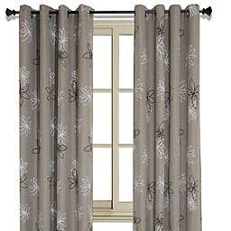 Crawford 126-Inch Grommet Room Darkening Window Curtain Panel in Beige