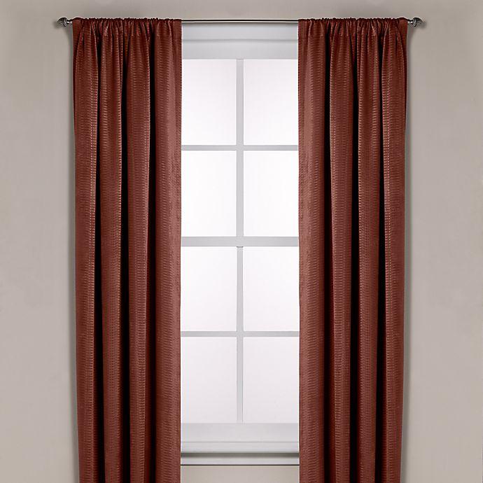 Alternate image 1 for Diamond Texture Rod Pocket Room Darkening 95-Inch Window Curtain Panel in Rust