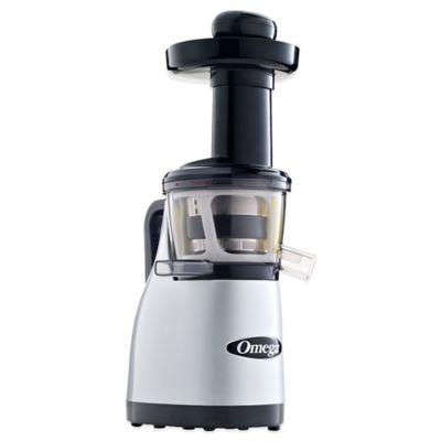 Omega® Low Speed Masticating Juicer with Handle in Silver