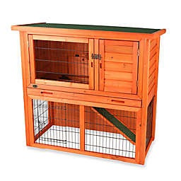 Trixie Natura 2-Story Sloped Roof Small Animal Hutch in Brown