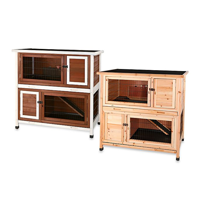 Alternate image 1 for TRIXIE Pet Products Natura Small 2-in-1 Flat Roof Small Animal Hutch