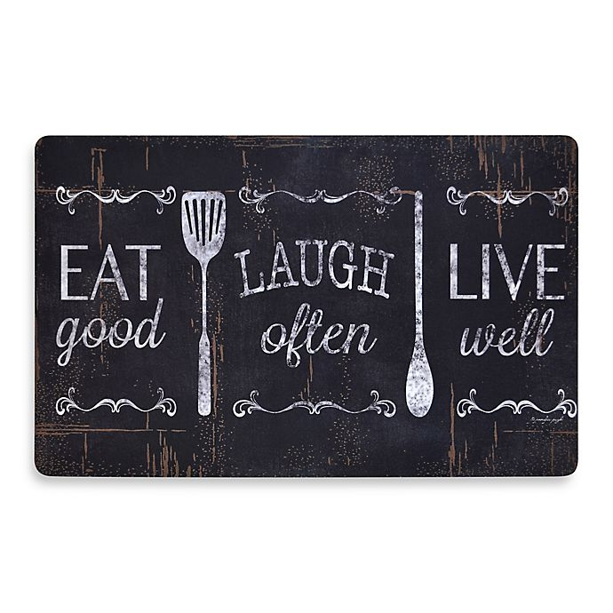 Alternate image 1 for Home Dynamix Soothing Chef Eat Laugh Love 19.7-Inch x 31.5-Inch Anti-Fatigue Kitchen Mat