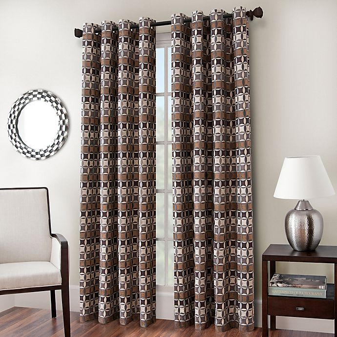 Alternate image 1 for Cadence Chenille Jacquard Window Curtain Panel