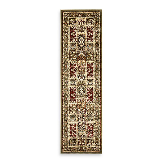 Alternate image 1 for Safavieh Lyndhurst Collection 2-Foot 3-Inch x 16-Foot Patchwork Runner in Light Green