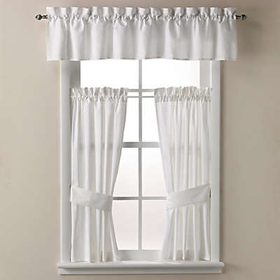 Wamsutta® Cane 14-Inch Bath Window Curtain Valance in White