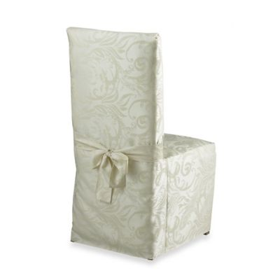 Autumn Scroll Damask Dining Room Chair Cover | Bed Bath ...