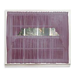 Emelia 14-Inch Sheer Window Valance in Amethyst
