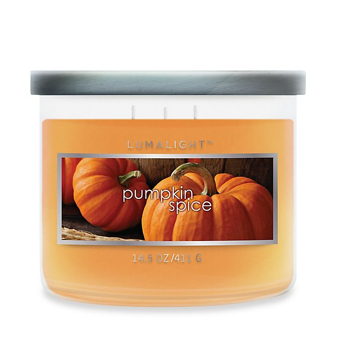 Alternate image 1 for 3-Wick Pumpkin Spice Soy-Blend Candle Jar