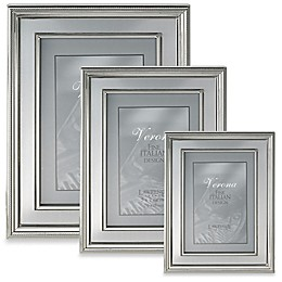 Lawrence Frames Silver-Plated Picture Frame with Brushed Inner Panel