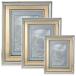 Lawrence Frames Silver-Plated Picture Frame with Brushed Gold Inner Panel