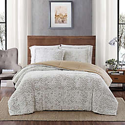Carved Faux Fur 3-Piece Twin Comforter Set