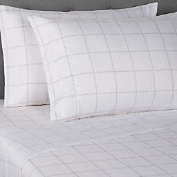 Simply Essential™ Truly Soft™ Microfiber Standard Pillowcases in Windowpane (Set of 2)