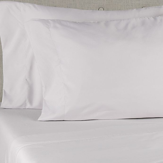 Alternate image 1 for Simply Essential™ Truly Soft™ Microfiber Standard/Queen Pillowcases in Grey (Set of 2)