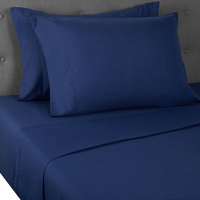 Alternate image 1 for Simply Essential™ Truly Soft™ Microfiber Solid Sheet Set