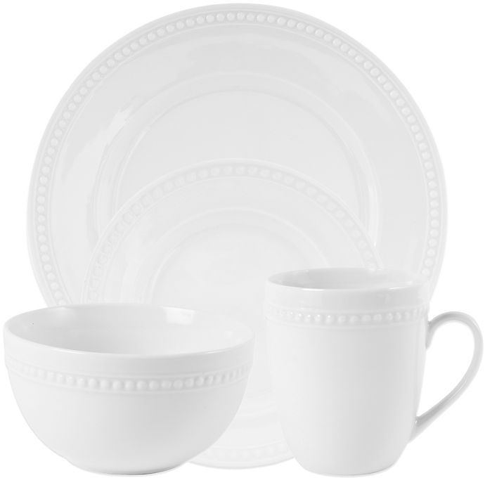 Alternate image 1 for Everyday White® by Fitz and Floyd® Beaded Dinnerware Collection