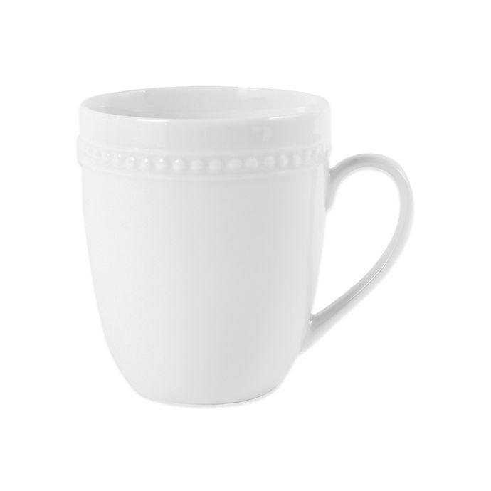 Alternate image 1 for Everyday White®  by Fitz and Floyd® Beaded Mug