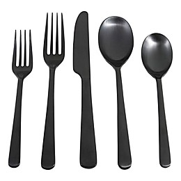 Cambridge® Silversmiths Julie Satin 20-Piece Flatware Set in Black