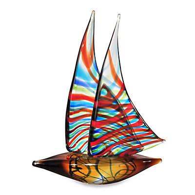 Dale Tiffany Chimera Art Glass Sail Boat