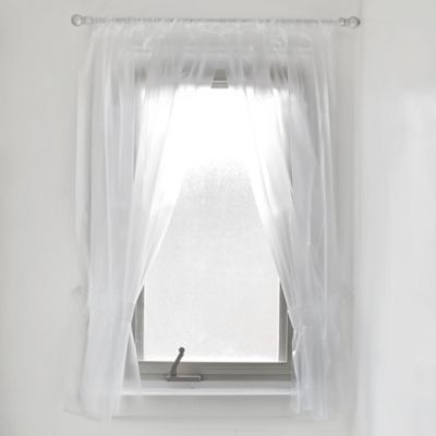 Vinyl Bath Window Curtain In Frost Bed Bath Beyond