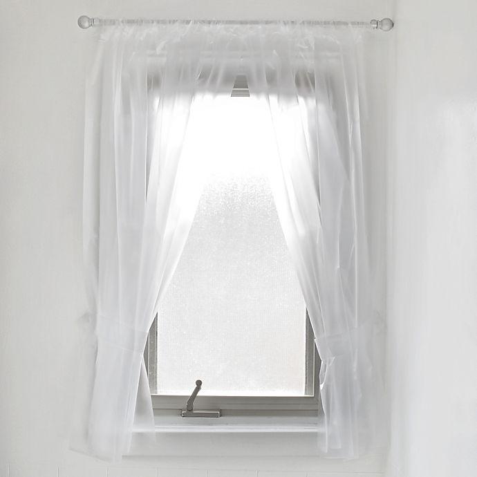 Alternate image 1 for Vinyl Bath Window Curtain in Frost