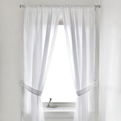 Vinyl Bath Window Curtain In White