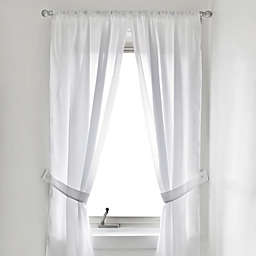 Vinyl Bath Window Curtain In White