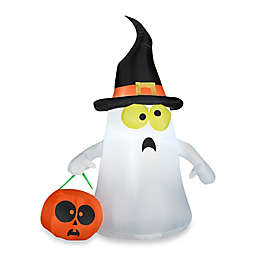 Gemmy® Ghost with Witch Hat Inflatable Outdoor Decoration