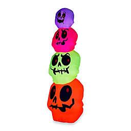 Inflatable Outdoor Neon Skulls Stack
