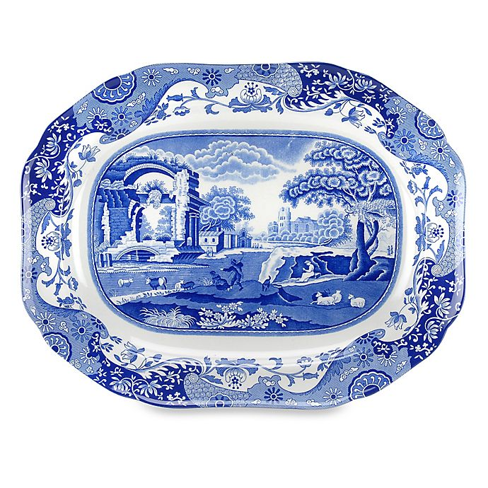 Alternate image 1 for Spode® Blue Italian 14.5-Inch Oval Platter