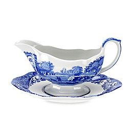 Spode® Blue Italian Gravy Boat with Stand