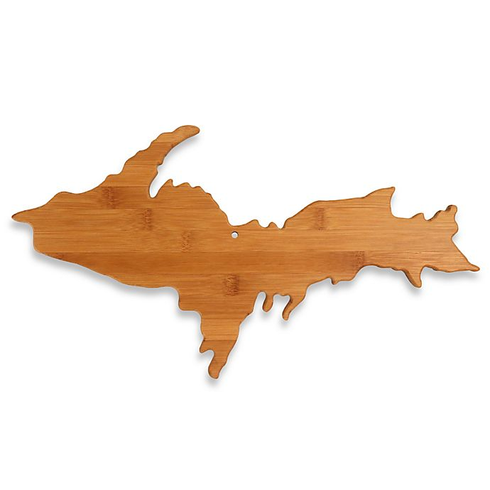 Alternate image 1 for Totally Bamboo Upper Peninsula of Michigan Cutting/Serving Board