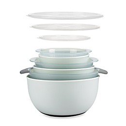 OXO Good Grips® 9-Piece Nesting Mixing Bowls and Colanders Set in Seaglass Blue