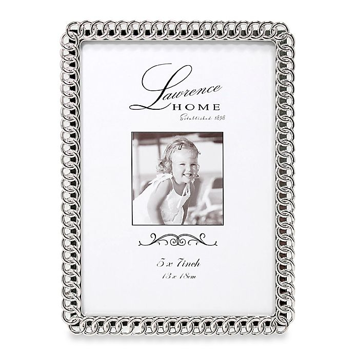 Alternate image 1 for Lawrence Frames Eternity Rings 5-Inch x 7-Inch Silver-Plated Picture Frame