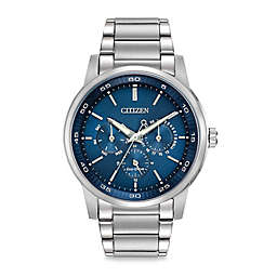 Citizen Men's Eco-Drive Dress Watch with 12/24-Hour Time and Stainless Steel Bracelet