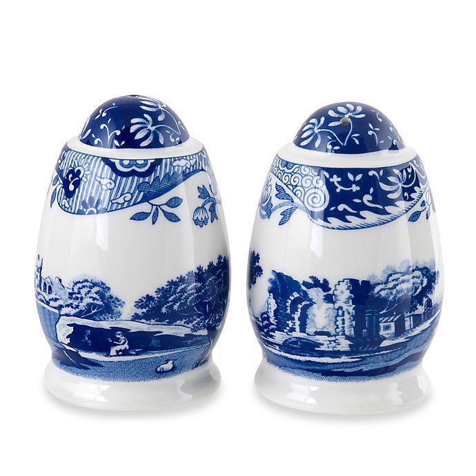 Alternate image 1 for Spode® Blue Italian Salt and Pepper Shakers