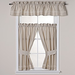 Wamsutta® Baratta Stitch Bath Window Curtain Panel and Valance